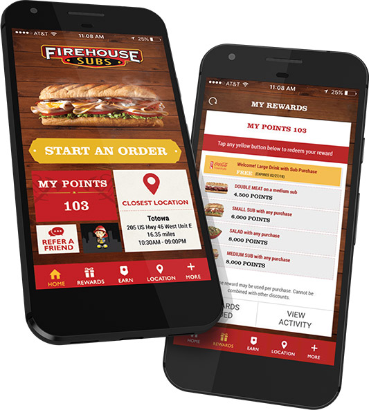 Preview of Firehouse Subs App