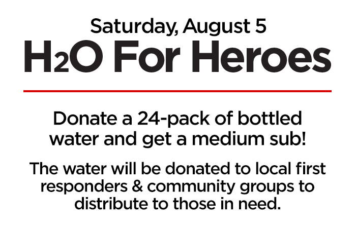 Firehouse Subs H2O for Heroes